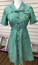 40's/50's Vintage Girl Scout Leader Teenage Woman Uniform Dress S Mathews Va