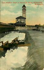 Washington, WA, Spokane, Great Northern Depot, Havermail Island Early Postcard