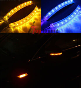 LED Car Side Rearview Mirror Turn Signal Lamps Indicator+ Daytime Running Lights