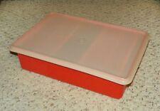 Tupperware 1421 - Craft / Large Storage Container w/ Seal - Orange