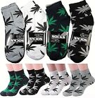 Lot 6-12 Pairs Mens Womens Leaf Weed Marijuana Cotton Ankle Casual Low Cut Socks