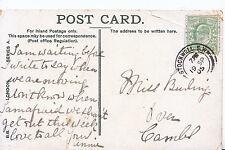 Genealogy Postcard - Family History - Burling - Over - Cambridgeshire  55A