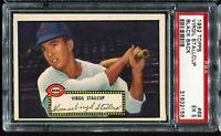 1952 Topps Baseball #69 VIRGIL STALLCUP Cincinnati Reds Black Back PSA 5 EX !