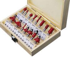 1/4'' Carbide Shank Router Bit Set Slot Trimmer Woodworking Milling Cutter Tools