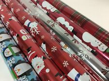 Hallmark Christmas Wrapping Paper - 6 Rolls-Two sided gift wrap 240 Square Feet