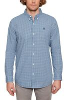 Timberland Mens Cotton Suncook Check Shirt Regular Long Sleeve Button Down Blue