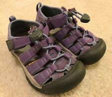 EUC! Girls Toddler Purple Waterproof Keens Sz 9