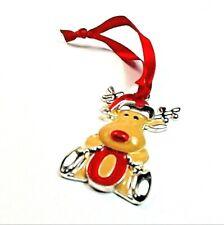 Vintage 2000 Harvey Lewis Enamel Rudolph Reindeer Ornament Swarovski Crystal