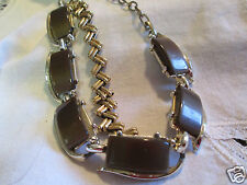 Vintage Coro Bronze Thermoset Plastic Gold-tone Necklace  Bracelet Jewelry Lot