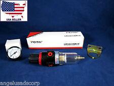 Air Compressor Filter + Regulator + Monometer Gauge + Mount Bracket FEITAI