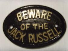 JACK Russell attenzione al segno di CASA GARAGE PLACCA