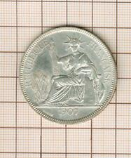 Silver Indochina Piastre Indochina Silver 1907
