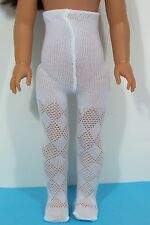 """White Diamond Cut Doll Tights For 14"""" American Girl Wellie Wisher Wishers (Debs)"""