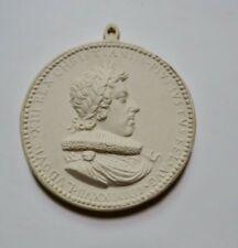 Médaille en plâtre Louis XIII 44 mm