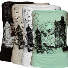 Bandeau, Top, Shirt, London, oberteil, mit Steinchen und Spitze, S/M, M/L