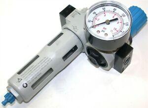 """Up to 2 Festo LR-D-7-MINI - 1/4"""" Air Regulator Filter LF-D-MINI w/gauge"""