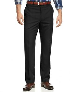 MICHAEL KORS Men's Big & Tall Solid Classic-Fit Dress Pants Black 54x30 NEW $125