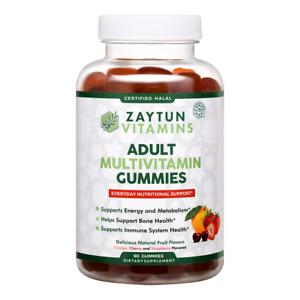 Zaytun Vitamins Halal Adult Multivitamin Gummies, Natural, Non-GMO, 90 Gummies