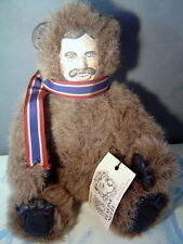Teddy Roosevelt and Teddy Bear Double faced Bear by Pam North 14 inches mohair