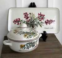(LOT X2) VTG Villeroy & Boch Botanica Small Sandwich Tray & Individual Casserole