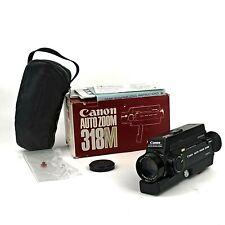 Near Mint Canon Auto Zoom 318M Black Super 8 Camera Boxed Tested & Working