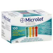 Microlet Colored Lancets - 100 Count (1 Box of 100)