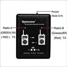 Cross Band Surecom SR-629 Duplex Radio Repeater Controller + Radio Cable