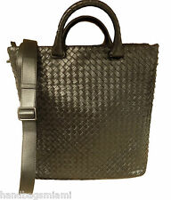 Bottega Veneta Intrecciato Woven Bag Leather Black Handbag Shoulder Tote New