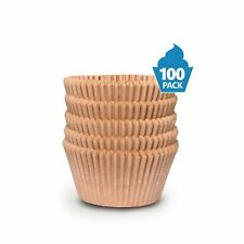Cupcake Baking Cup Liner – Jumbo Size, Extra Thick, Unbleached Brown Disposable