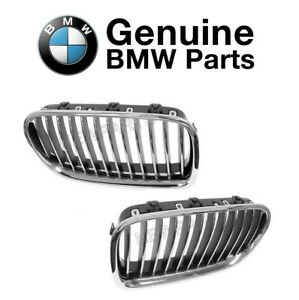 For Pair Set of Front Left & Right Grilles Chrome Genuine BMW F10 528i 535i