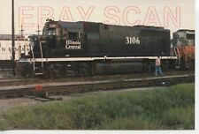 8A768 RP 1980s ILLINOIS CENTRAL RAILROAD ENGINE #3106