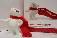 New listing Hallmark 2014 Great Granddaughter White Bear Collectible Ornament New in Box