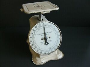 Vintage/Antique Wht. over Black Columbia Family Scale, Landers, Frary & Clark