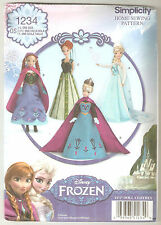 "Simplicity Pattern 1234 / 0734 - Disney Frozen Clothes for 11 1/2"" Fashion Doll"