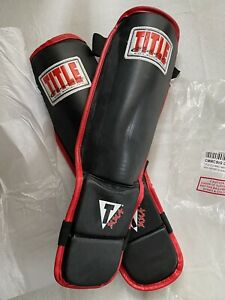 TITLE CLASSIC MMA,UFC,Genuine Leather Grapping Shin Instep Guards L