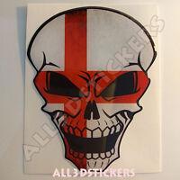 Pegatina Calavera Bandera Inglaterra Adhesivo Relieve Coche Moto Skull  3D