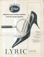 "(B2) VOGUE/HARPERS/NOVA MAGAZINE ADVERT 13X10"" LOTUS - LYRIC COURTS"