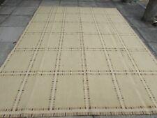 Vintage Hand Made French Design Wool Beige Large Original Aubusson 310X234cm