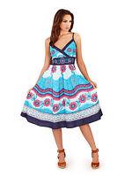 Ladies Summer Strapless/Bandeau Cotton Beach Sun Dress/Maxi Skirt Size 8-22 NEW