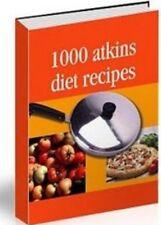 1000 Atkins Diet Recipes EBOOK, Carb Gram Counter & Fact Sheet on CD
