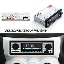 Bluetooth Vintage Car FM Radio MP3 Player USB AUX Classic Stereo Audio Receiver