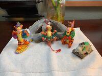 Disney Winnie the Pooh Christmas Ornaments LOT Tigger Lot Of 4 RARE Hallmark