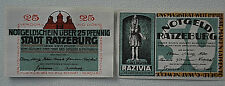 RATZEBURG Stadt Notgeld 25 Pfennig, 50 Pfennig 1921 Komplette Serie (3310)