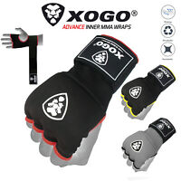 XOGO® Gel Padded Inner Gloves with Hand Wraps MMA Muay Thai Boxing Fight PAIR