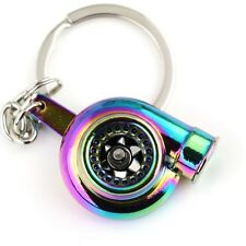 RAINBOW NEOCHROME TURBO KEYRING audi tt car petrolhead neo fan present gift idea