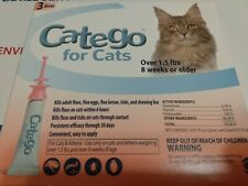 New listing Catego Fast-Acting Flea & Tick Treatment For Cats/Kittens Over 1.5 lbs 3 Pack