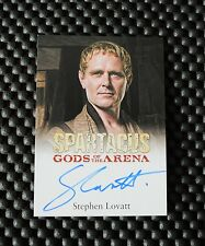 SPARTACUS GODS OF THE ARENA STEPHEN LOVATT AS TULLIUS AUTOGRAPH CARD