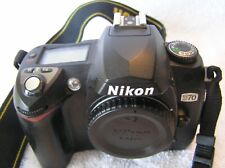 3pt8 😊 NIKON D70 6.1MP DIGITAL SLR CAMERA BODY ONLY STRAP & CAP        ST135