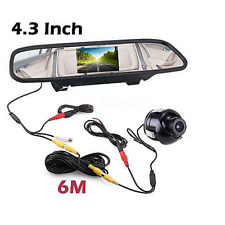 360° Rotatable Vehicle Reversing Parking Camera + 4.3 Inch Mirror LCD Screen Kit