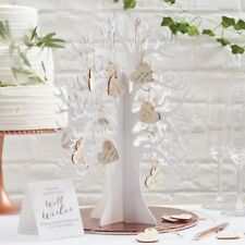 Ginger Ray Wishing Tree & Wooden Hearts Alternative Wedding Guest Book - BB-286